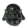 Fashion gems, sort buddha hoved, 20x17mm, stk.